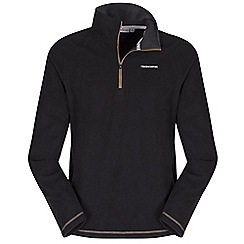 Craghoppers - Blk/dirtyolv basecamp half-zip ii fleece