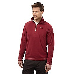 Craghoppers - Brick red basecamp half-zip ii fleece