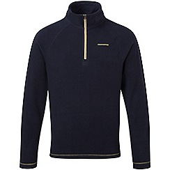Craghoppers - Dark navy basecamp half-zip ii fleece