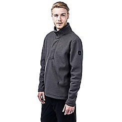 Craghoppers - Blk pepper marl weston half button fleece