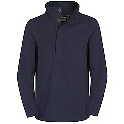 Craghoppers - Dark navy marl weston half button fleece