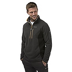 Craghoppers - Black pepper crathorne pro series half-zip fleece