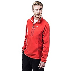 Craghoppers - Dynamite/chilli crathorne pro series half-zip fleece