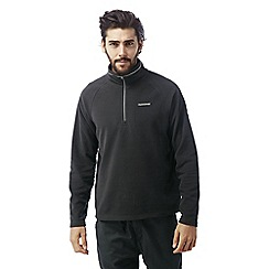 Craghoppers - Black pepper Selby half zip microfleece