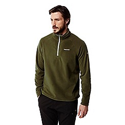 Craghoppers - Dark moss Selby half zip fleece