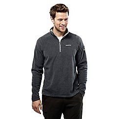 Craghoppers - Black pepper marl selby half zip microfleece