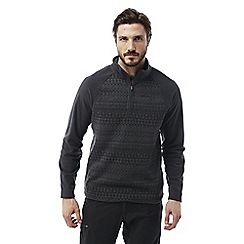 Craghoppers - Black pepper Elliston zip neck jumper