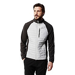 Craghoppers - Light grey C65 lightweight hybrid fleece jacket