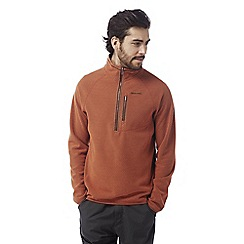 Craghoppers - Burnt orange Liston half zip insulating fleece
