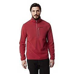 Craghoppers - Barn red Liston lightweight half zip fleece