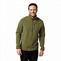 Craghoppers - Green 'Liston' half zip textured fleece