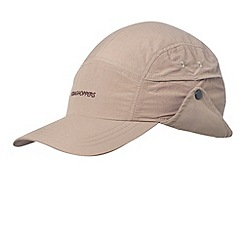Craghoppers - Light Grey lightweight hat with foldaway neck protector