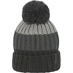Craghoppers - Blk pepper marl picton bobble hat