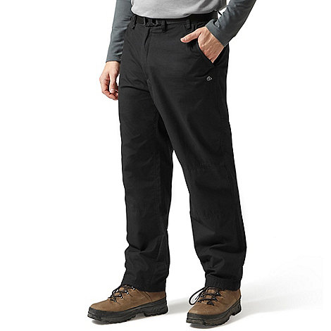 Craghoppers - Black regular leg length classic walking trousers