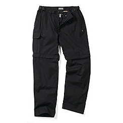 Craghoppers - Black Water Repelling Kiwi Zipoff Trousers - Regular