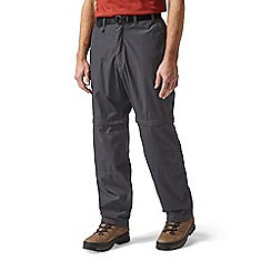 Craghoppers - Black pepper kiwi convertible trousers - short leg length