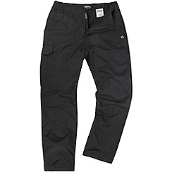 Craghoppers - Black basecamp winter-lined trousers - short leg
