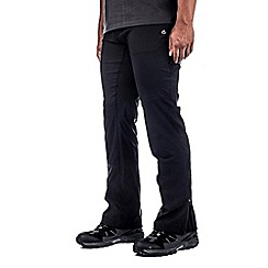 Craghoppers - Black/black kiwi pro elite trousers - regular leg