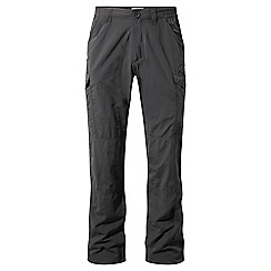 Craghoppers - Black pepper nosilife cargo trousers - regular leg
