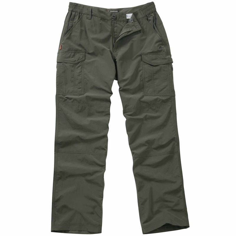Craghoppers Dark khaki Nosilife cargo trousers