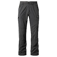 Craghoppers - Black pepper nosilife cargo trousers - short leg