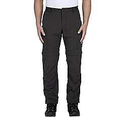Craghoppers - Black pepper nosilife convertible trousers - regular leg