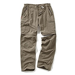 Craghoppers - Pebble nosilife convertible trousers - regular leg