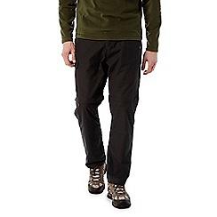 Craghoppers - Black pepper C65 convertible trousers - long length