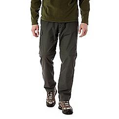 Craghoppers - Dark khaki C65 convertible trousers - regular length