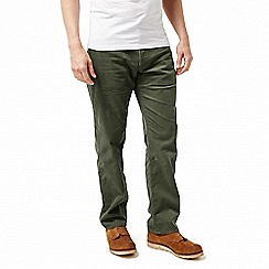 Craghoppers - Green 'Bardsley' cord outdoor regular trousers