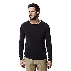 Craghoppers - Dark navy Nosilife berkley crew neck sweater