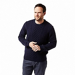 Craghoppers - Blue 'Aron' cable knit jumper