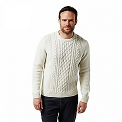 Craghoppers - Mixed 'Aron' cable knit jumper