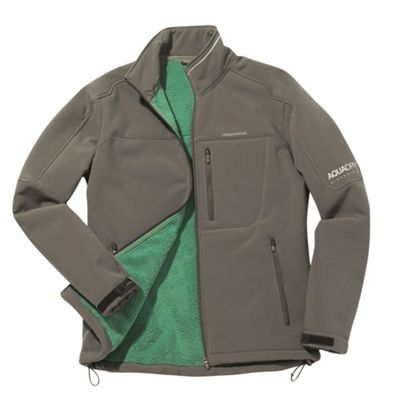 Pale Green Mens Altitude Soft-shell Jacket