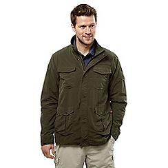 Craghoppers - Dark khaki nosilife insect repellent adventure jacket