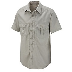 Craghoppers - Beige insect repelling short sleeve shirt