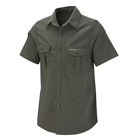 Craghoppers - Dark Khaki insect repelling short sleeve shirt