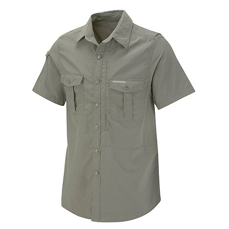 Craghoppers - Dusky Green NosiLife Short-Sleeved Shirt