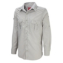 Craghoppers - Beige insect repelling long sleeve shirt