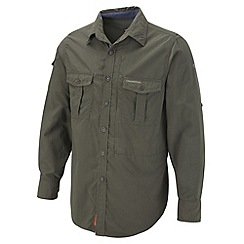 Craghoppers - Dark Khaki insect repelling long sleeve shirt