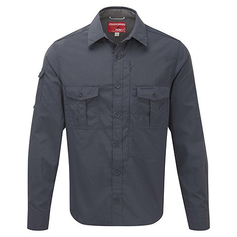 Craghoppers - Windsor blue nosilife long sleeved shirt