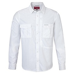 Craghoppers - White nosilife long sleeved shirt