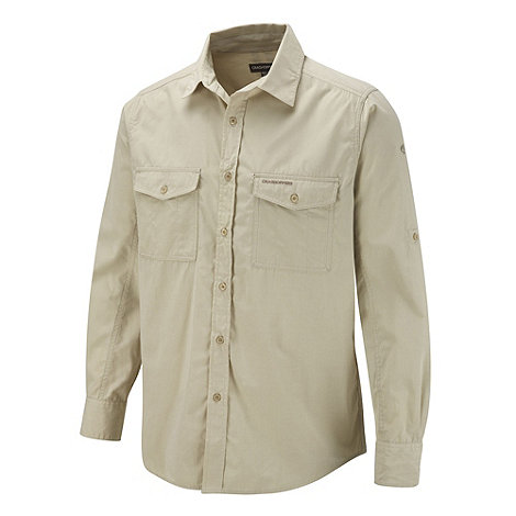 Craghoppers - Natural long sleeved shirt