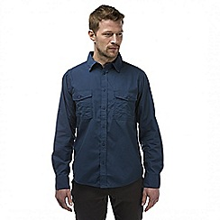 Craghoppers - Faded indigo kiwi long sleeved button shirt