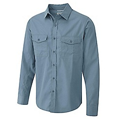 Craghoppers - Provincial blue kiwi long sleeved shirt