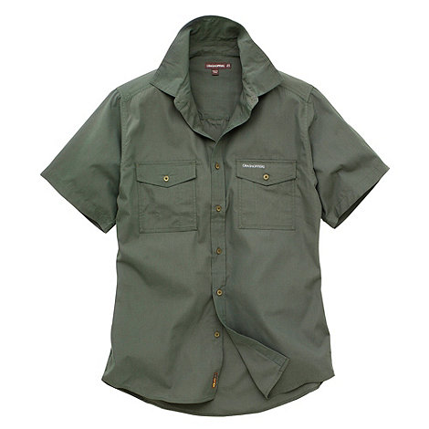 Craghoppers - Green Classic Kiwi Short Sleeve Shirt