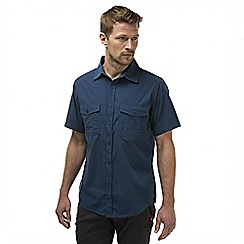 Craghoppers - Faded indigo kiwi short sleeved button shirt