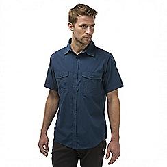 Craghoppers - Faded indigo kiwi short sleeved button shirt