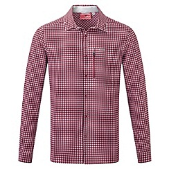 Craghoppers - Red combo nosilife berko long-sleeved shirt