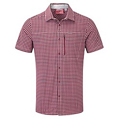 Craghoppers - Red combo nosilife berko short-sleeved shirt